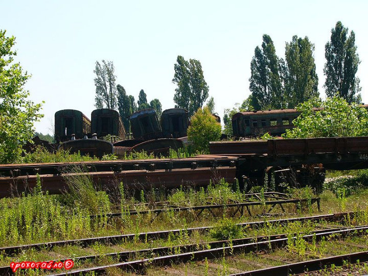 abandoned soivet trains in Sukhumi 46