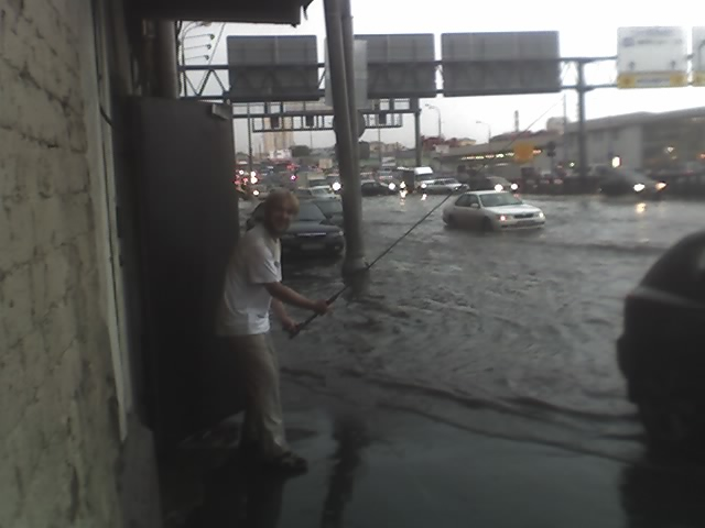 flood has occured in Moscow this Tuesday 1