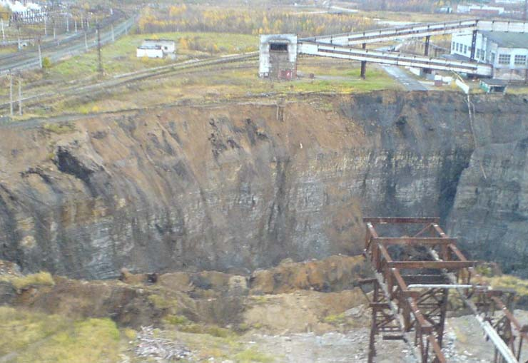 a giant hole in the land in Russian town 10