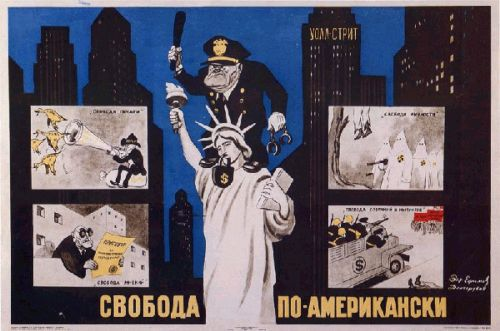 soviet propaganda posters against usa