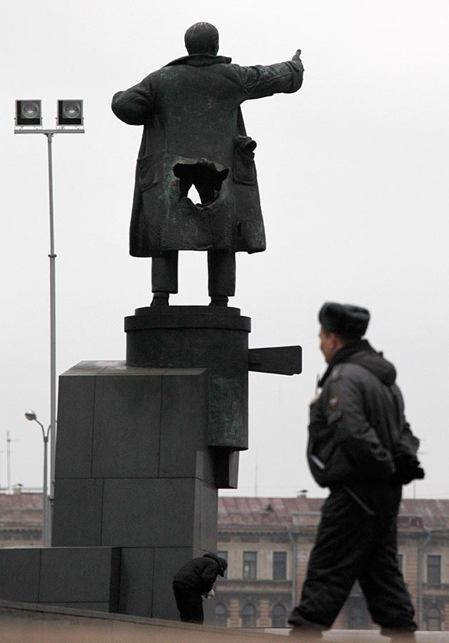 April day Lenin blown up prank