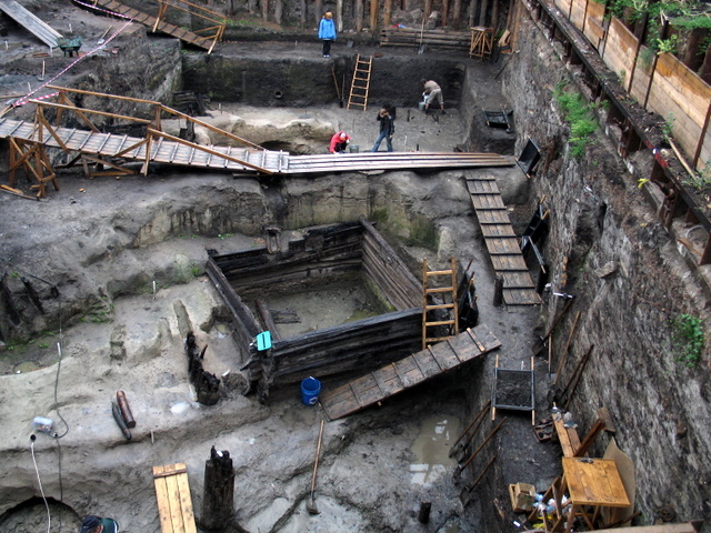 excavations took place near the walls of the Kremlin, Moscow 2