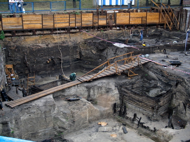 excavations took place near the walls of the Kremlin, Moscow 5
