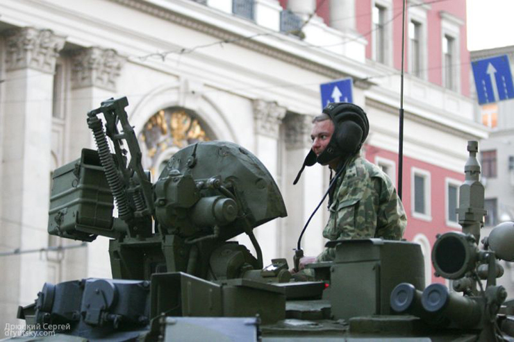 Moscow invaded by Russian army 16