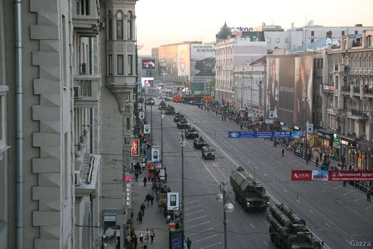 Moscow invaded by Russian army 2