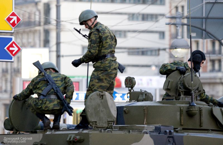 Moscow invaded by Russian army 20