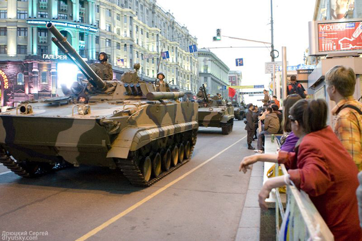 Moscow invaded by Russian army 21