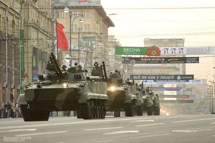 Moscow invaded by Russian army 8