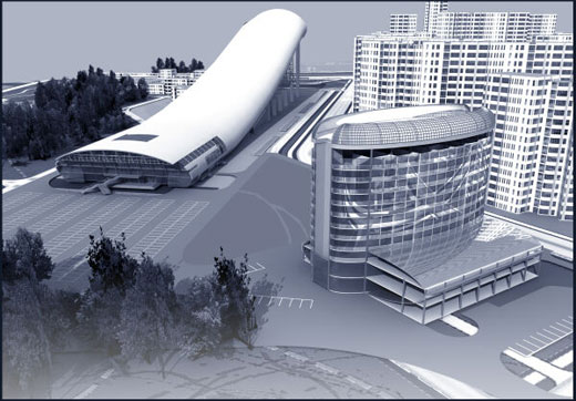 artificial skiing resort in Moscow 1