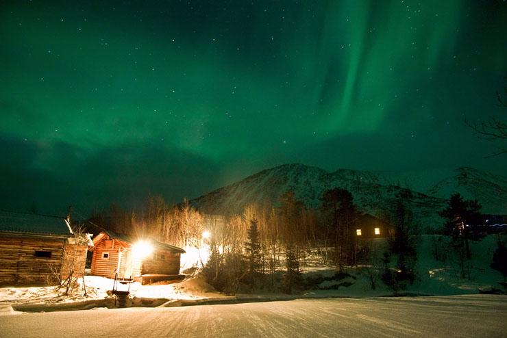 Aurora borealis in Russia 1