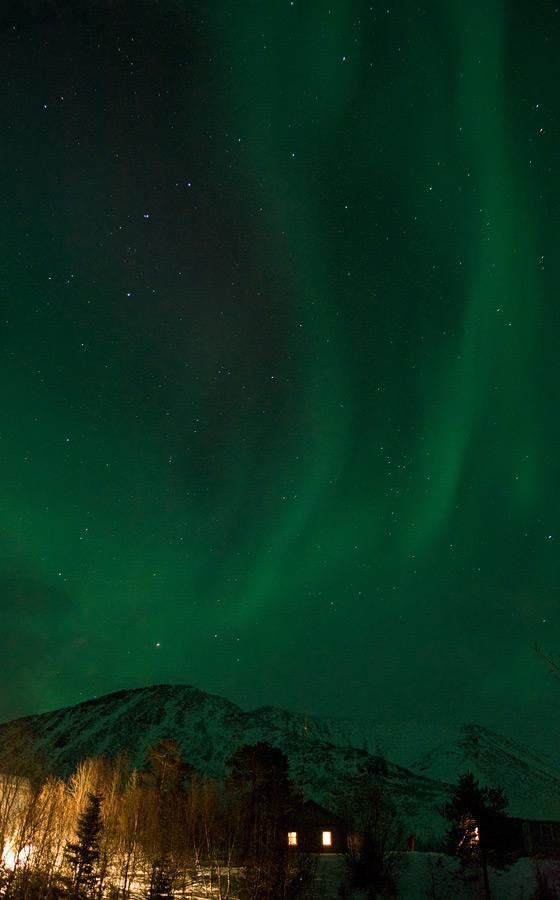Aurora borealis in Russia 16