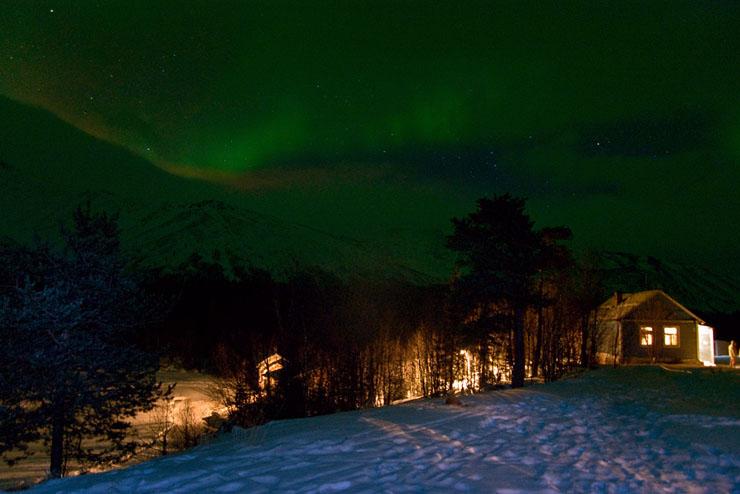 Aurora borealis in Russia 2