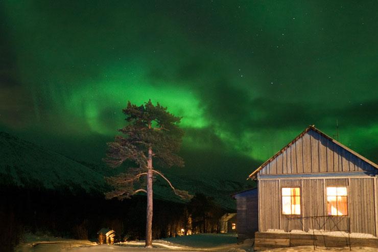 Aurora borealis in Russia 7