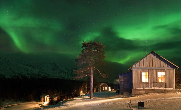 Aurora borealis in Russia 8
