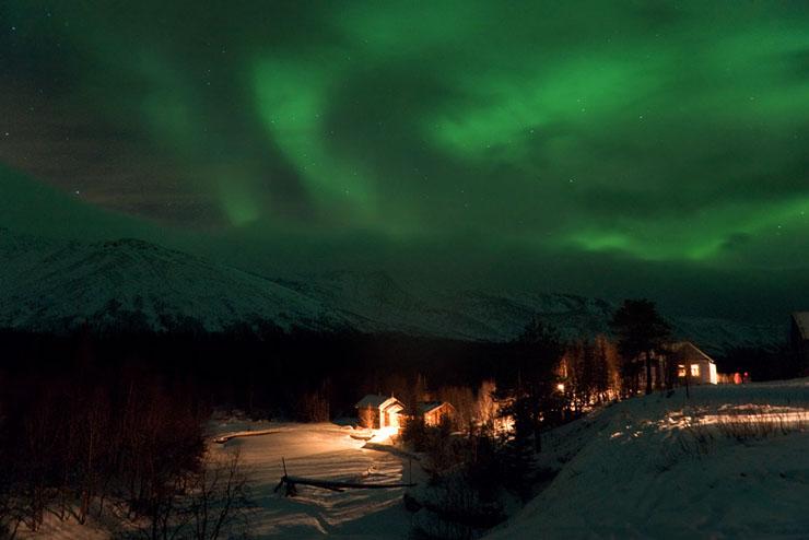 Aurora borealis in Russia 9