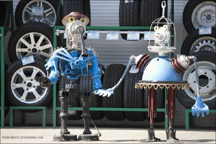 Russian auto parts sculptures 2