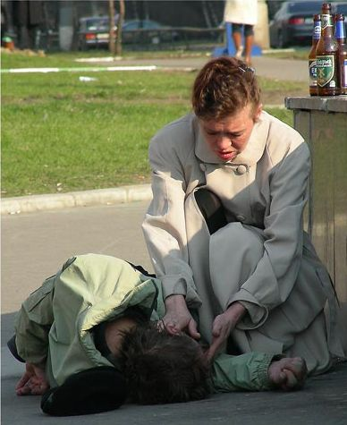 in russia people are brought to life by a bottle of beer part 1
