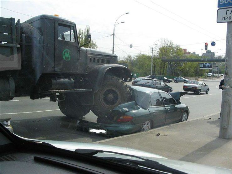 car wrongly parked in Russia 1