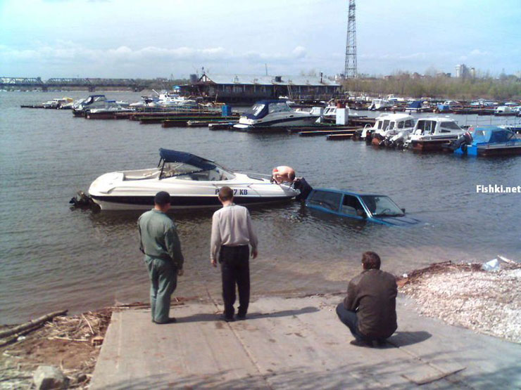 Russian bad parking punished 12