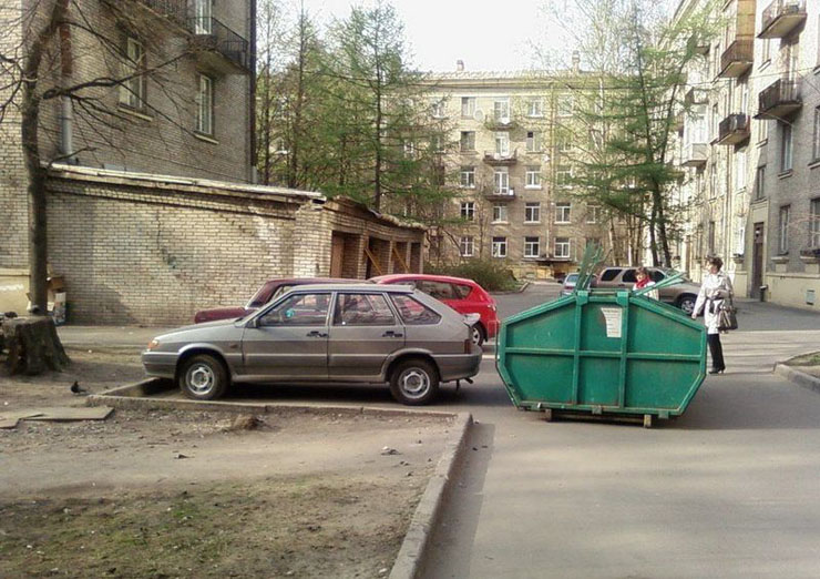 Russian bad parking punished 2