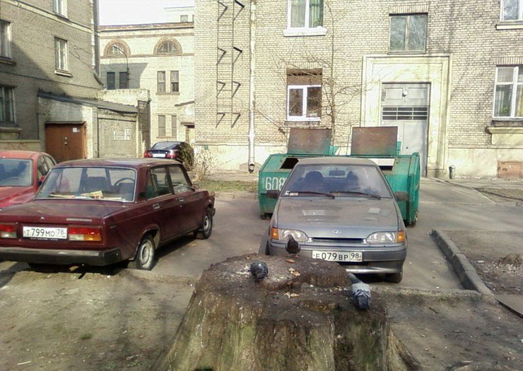 Russian bad parking punished 3