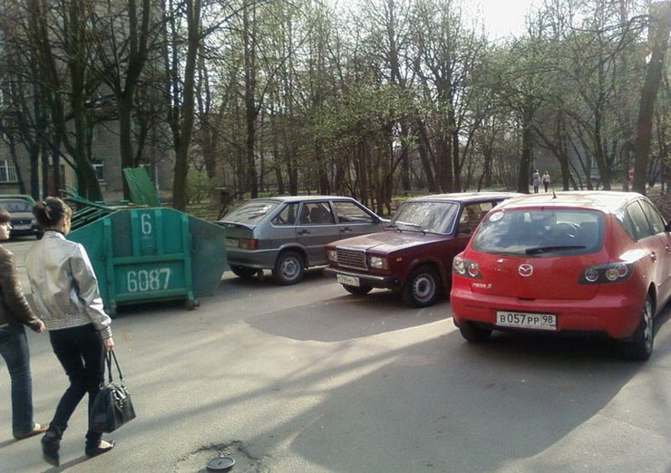 Russian bad parking punished 4