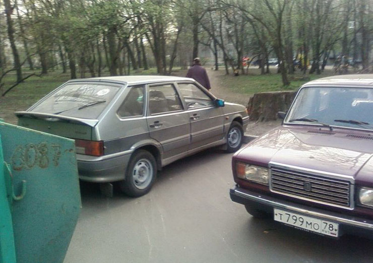 Russian bad parking punished 7
