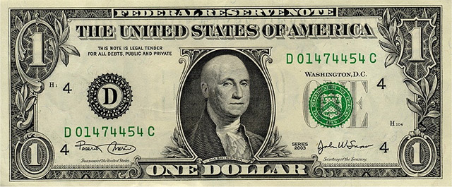 American dollars bald
