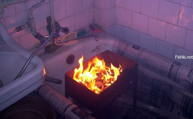 barbeque in bathroom 1