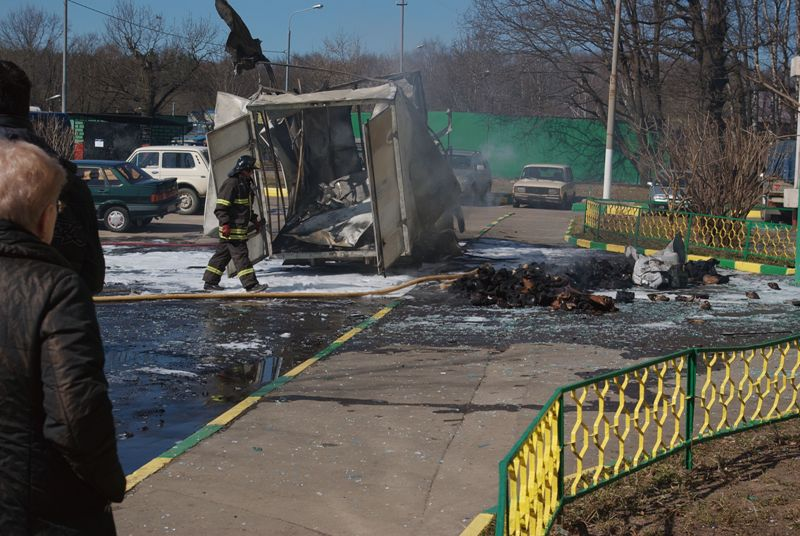 Russian lorry blown up 6