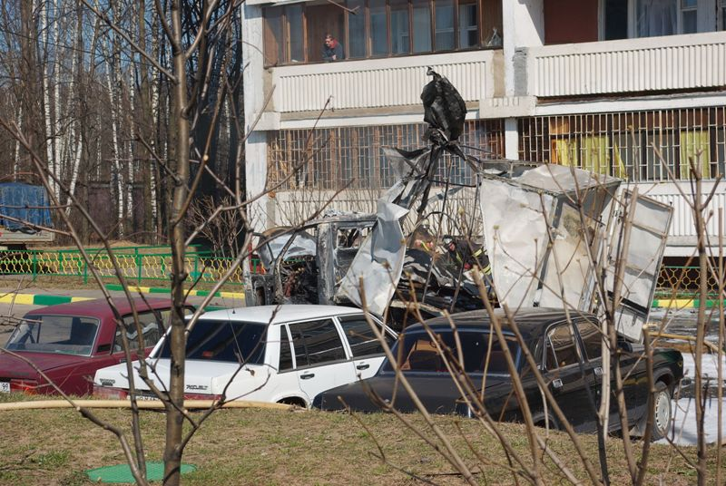 Russian lorry blown up 4