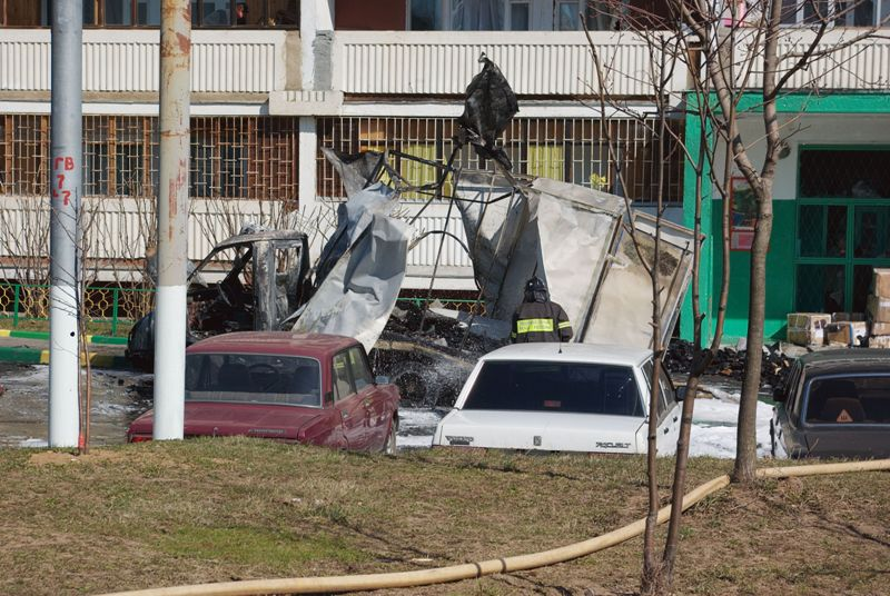 Russian lorry blown up 7