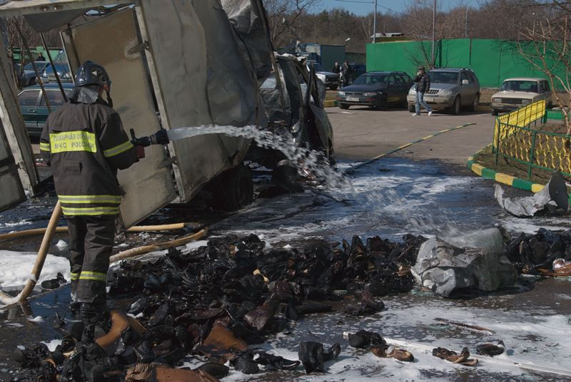 Russian lorry blown up 9