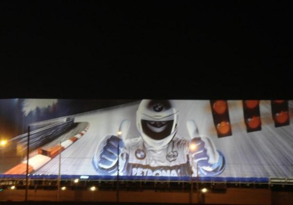 biggest ad in Russia, ad of BMW 8