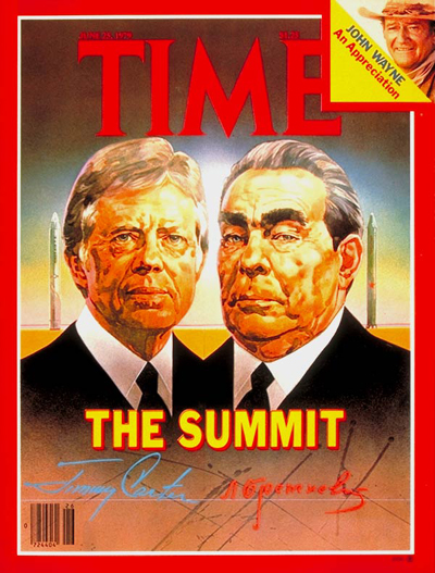 Brezhnev, Soviet leader with Carter, on TIMES cover