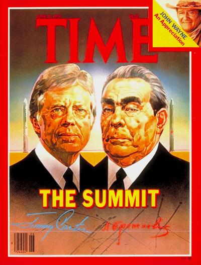 Brezhnev, Soviet leader with Carter, on TIMES cover