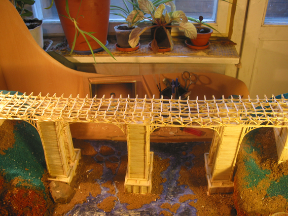 bridge made of matches 10