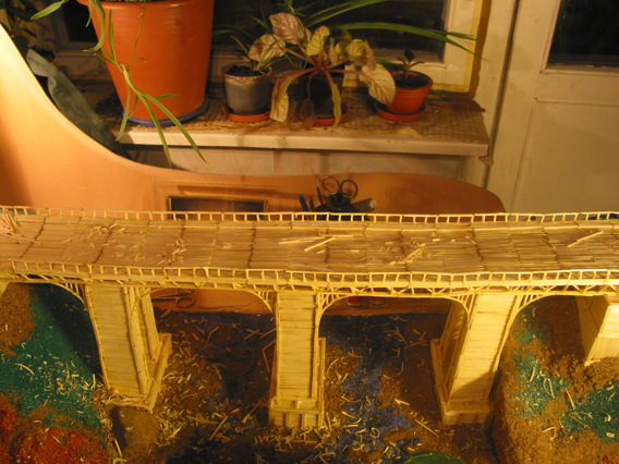 bridge made of matches 11
