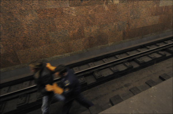 Russian guy on rails at metro 4