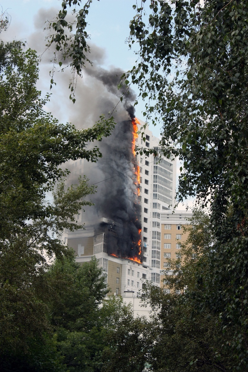 Russian construction fire 2