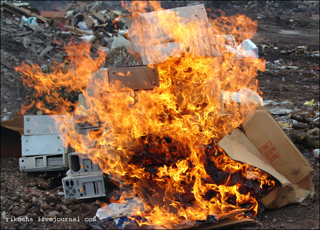 burning down pcs in Russia 2