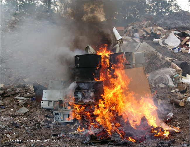 burning down pcs in Russia 3