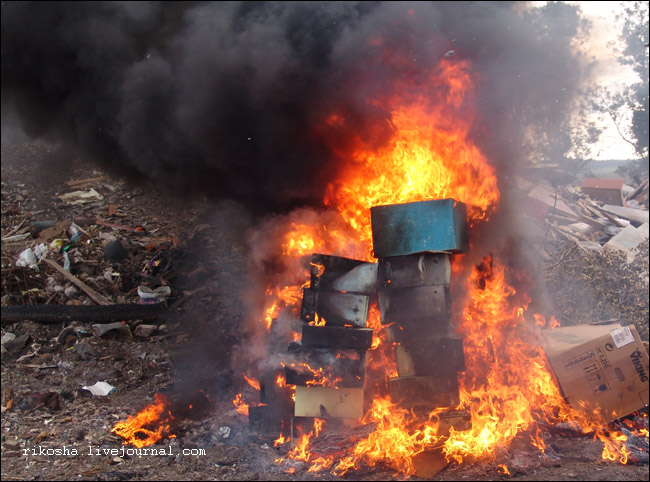 burning down pcs in Russia 5