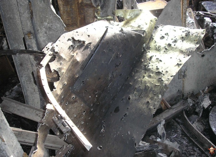 Russian ship burned down 9