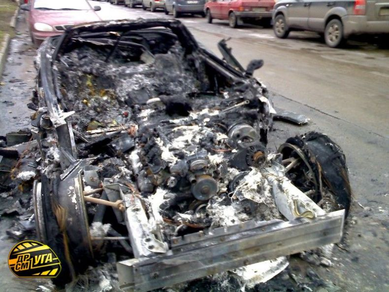 Corvette burned down in Ukraine, Russia 3