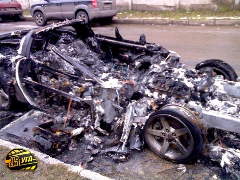 Corvette burned down in Ukraine, Russia 4