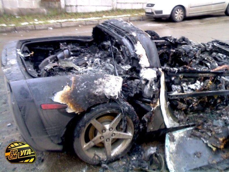 Corvette burned down in Ukraine, Russia 5