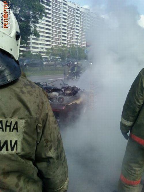 Russian ferrari got burned down 3