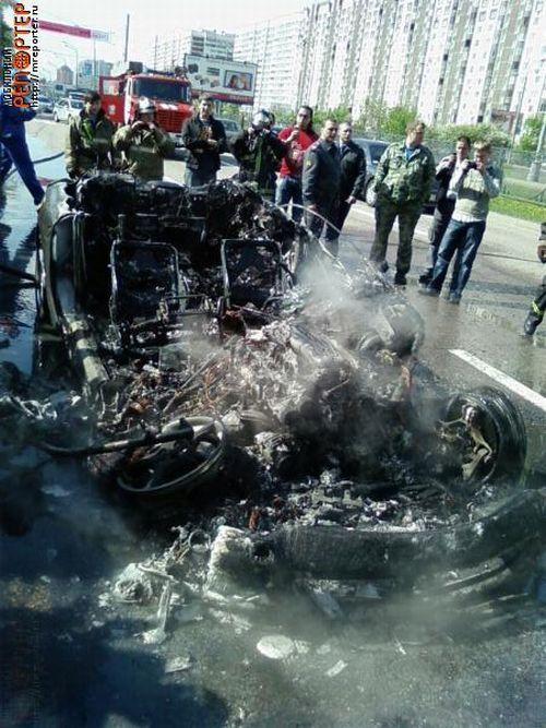 Russian ferrari got burned down 5