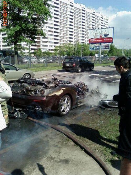 Russian ferrari got burned down 6